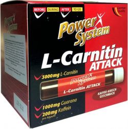 Power System L-carnitine Attack (coffeine+guarana) [25 мл\амп]